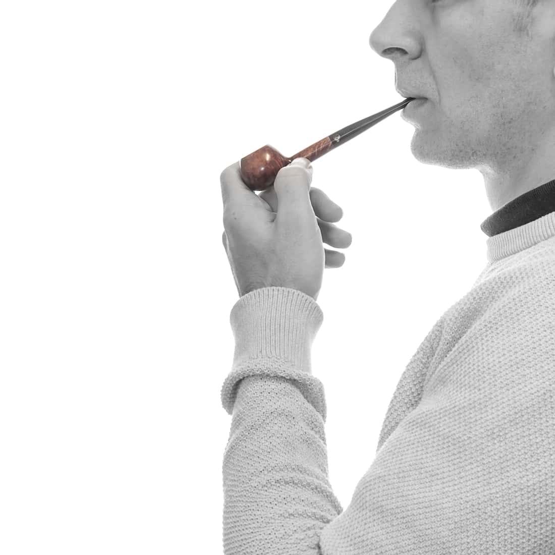 Photo #1 de Pipe de Cogolin Mini Droite Boule Courte