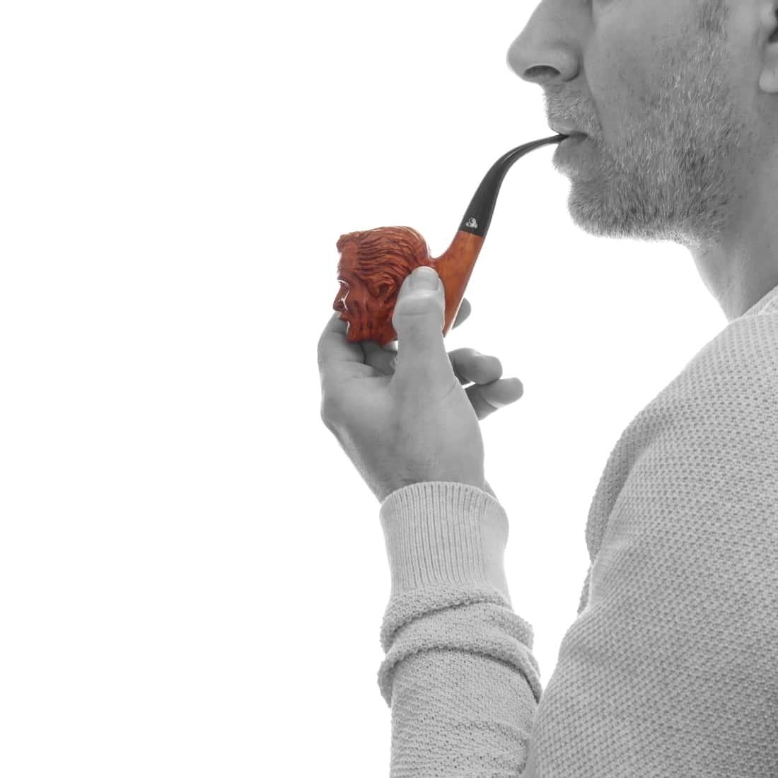 Photo #1 de Pipe de Cogolin Sculptée Brassens