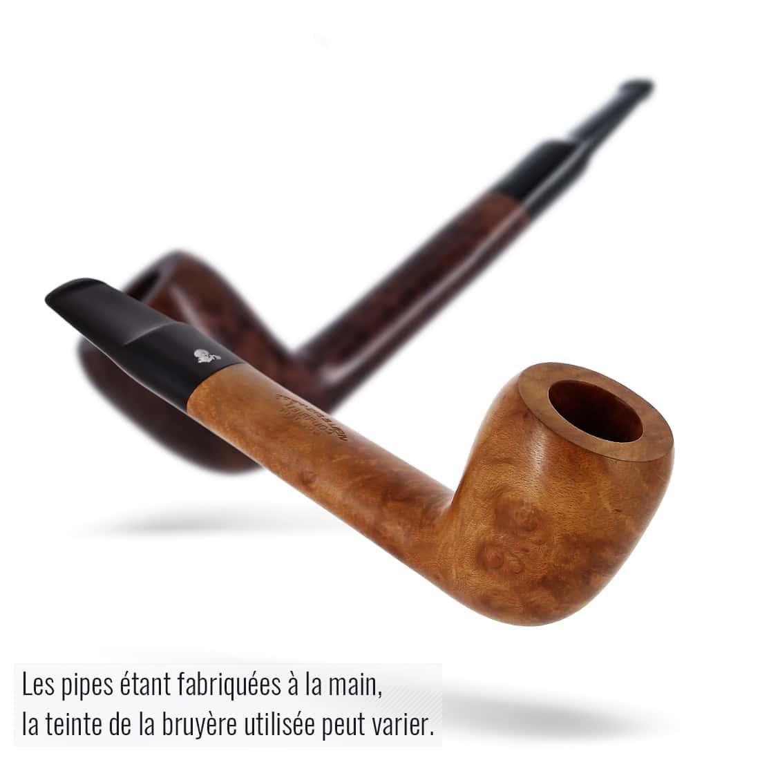 Photo #3 de Pipe de Cogolin Vieille Bruyère Plate Droite