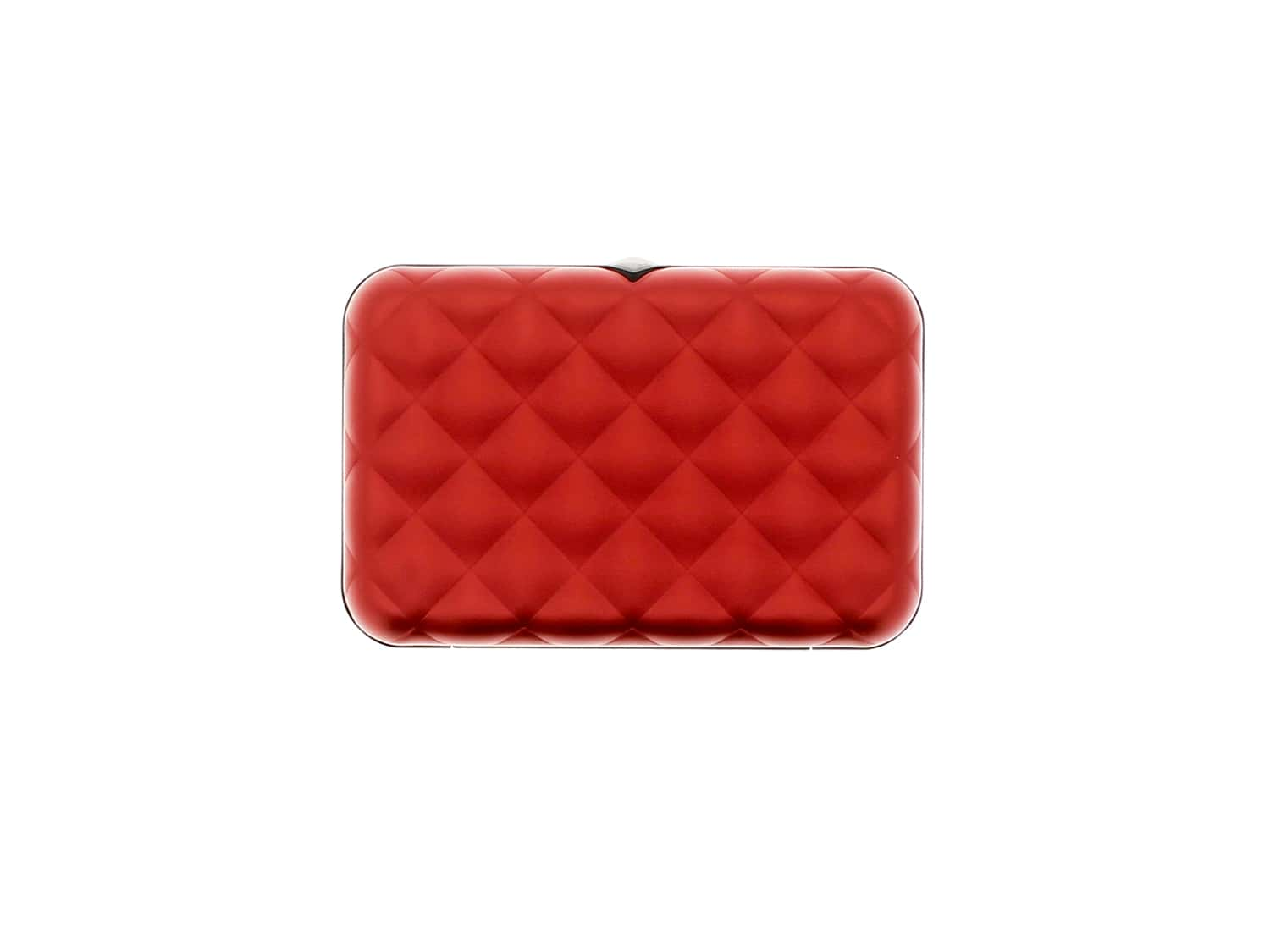Photo #1 de Etui Porte Cartes Ogon Quilted Button Rouge