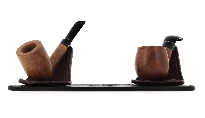 Photo #1 de Porte pipe Art et Volutes en cuir Duo
