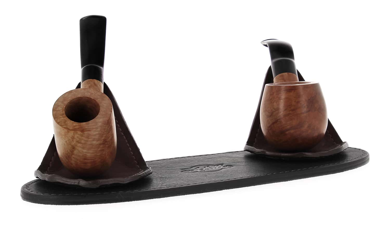 Photo #2 de Porte pipe Art et Volutes en cuir Duo