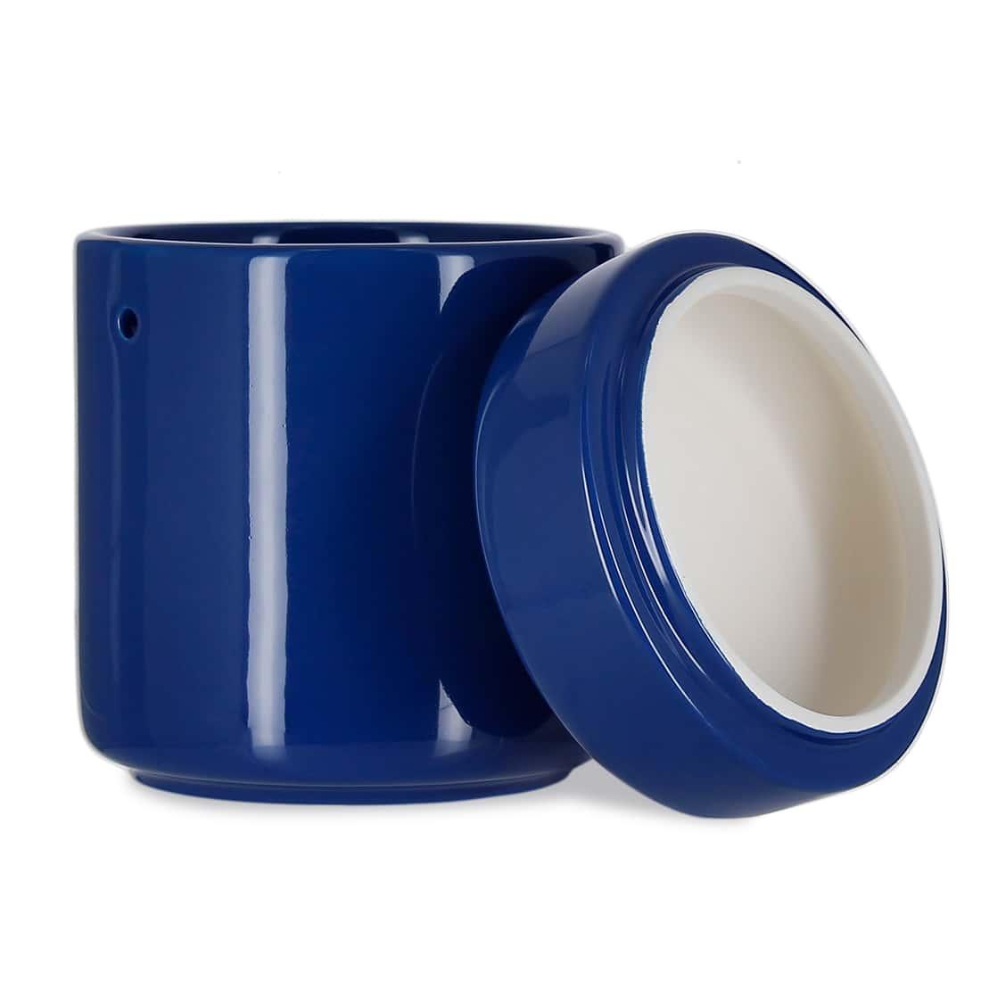 Photo #1 de Pot à tabac Céramique Bleu et Humidificateur Crédo