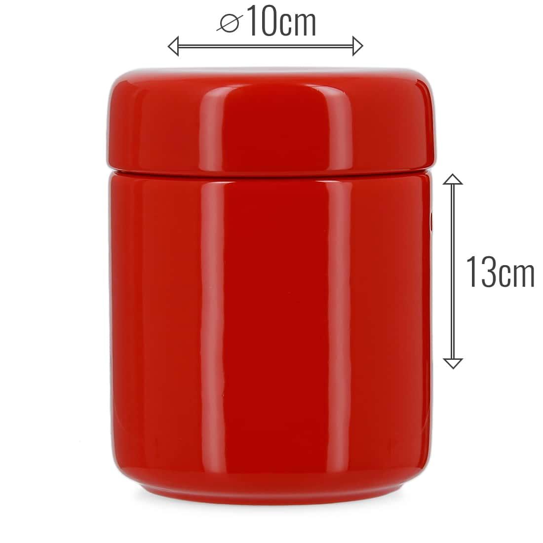 Photo #2 de Pot à tabac Céramique Rouge et Humidificateur Crédo