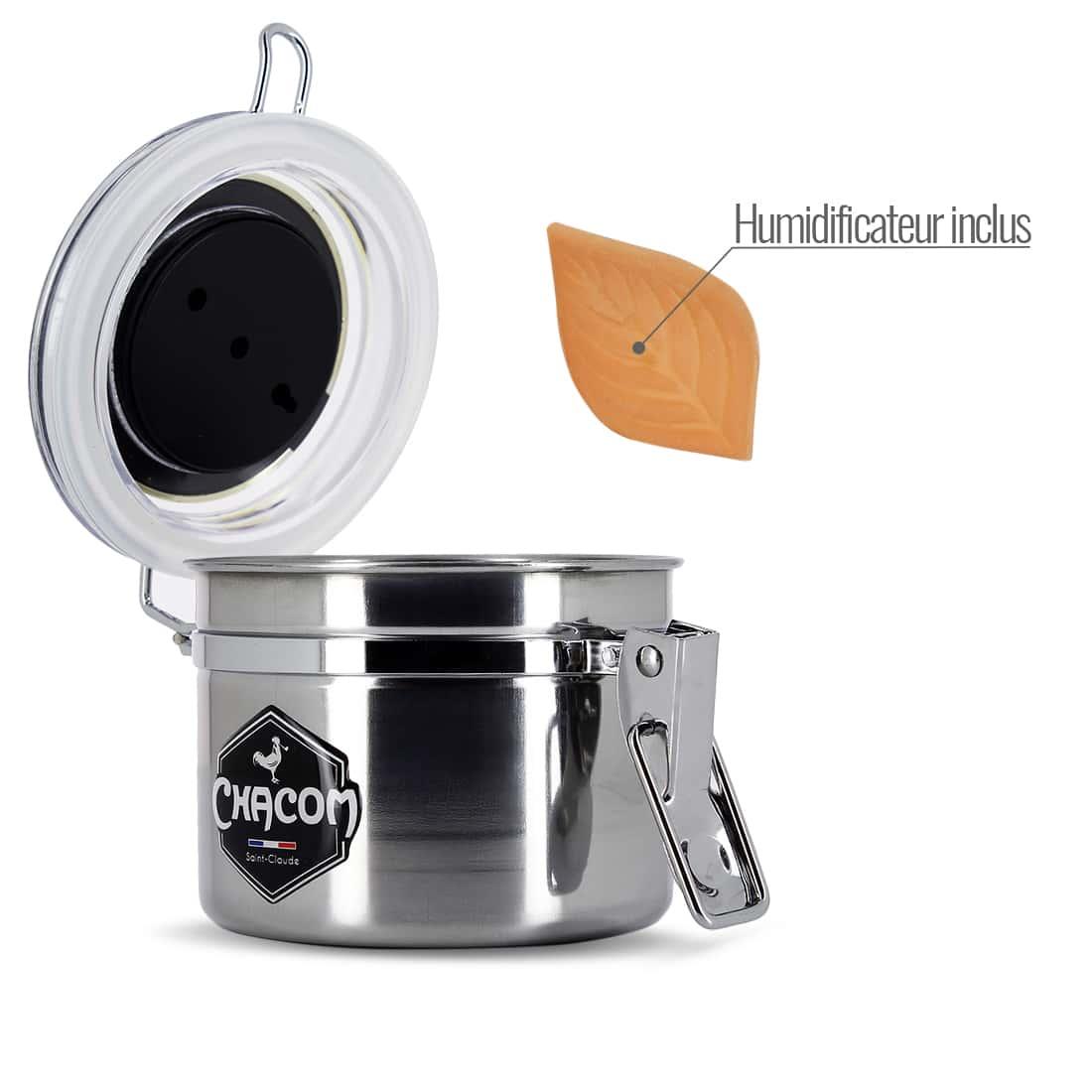 Photo #1 de Pot à tabac Chacom Inox Petit Modèle