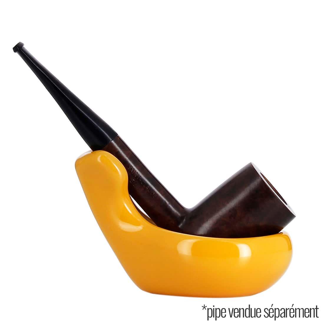 Photo #4 de Pot à tabac et Porte Pipe Céramique Jaune