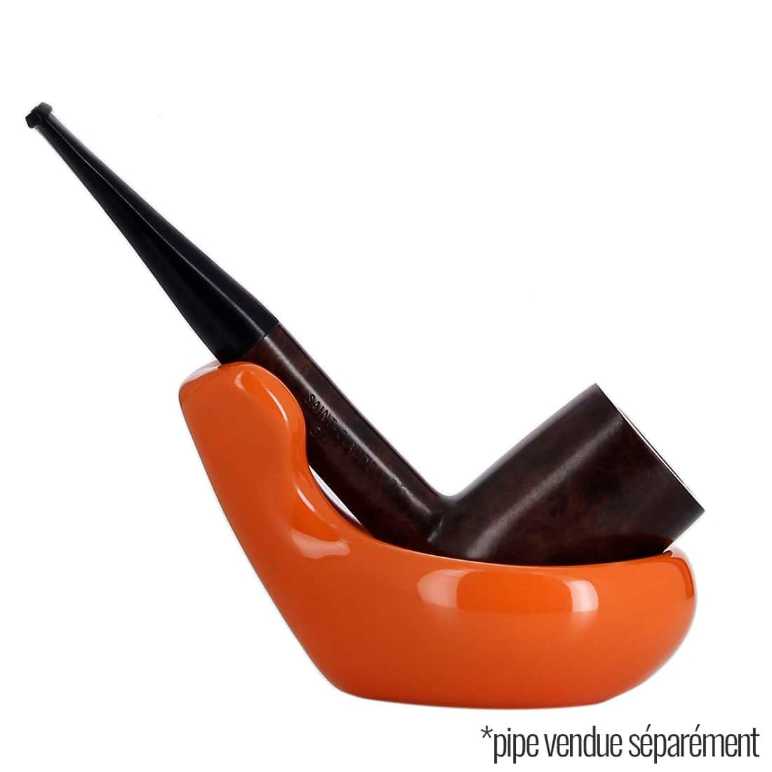 Photo #4 de Pot à tabac et Porte Pipe Céramique Orange