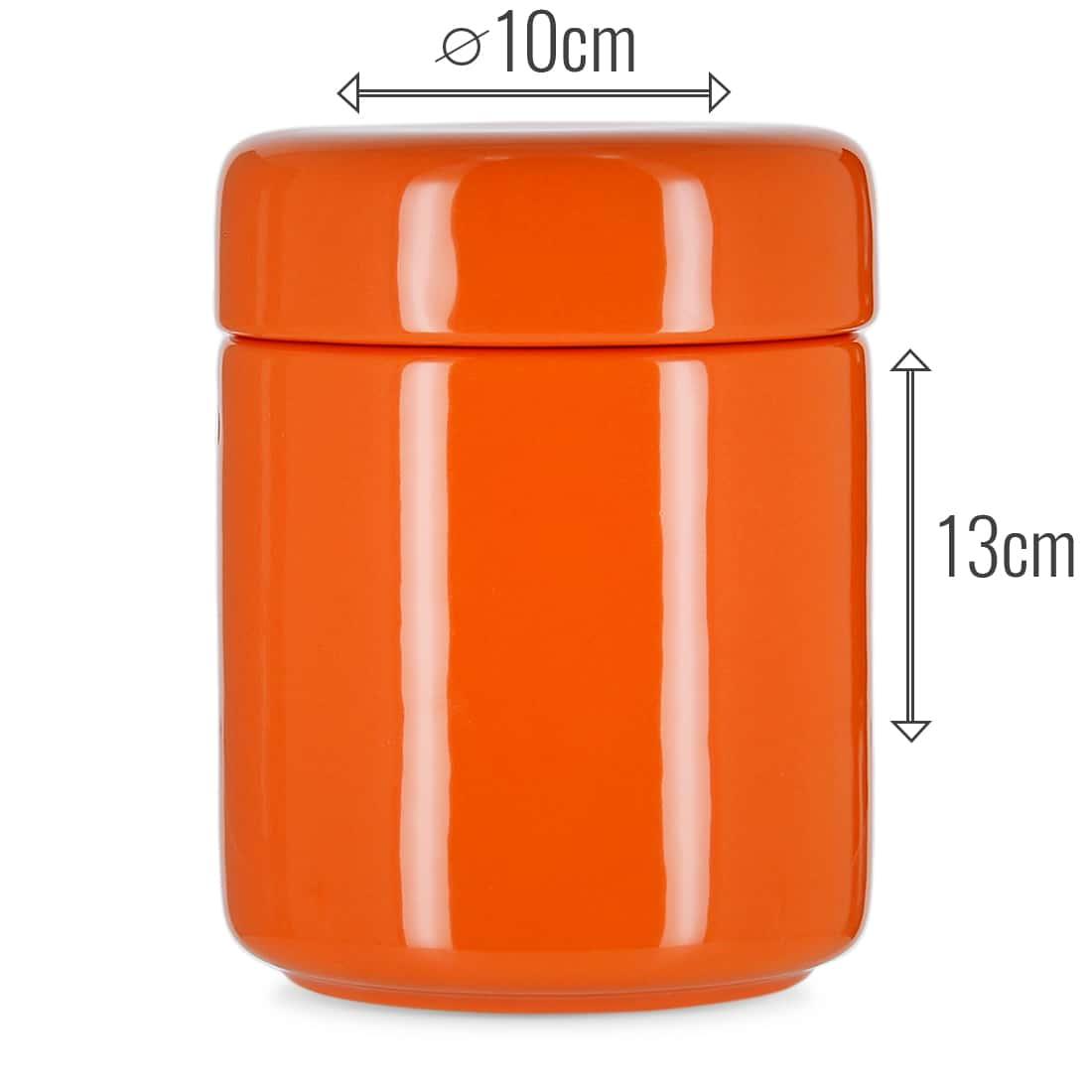 Photo #2 de Pot à tabac et Porte Pipe Céramique Orange