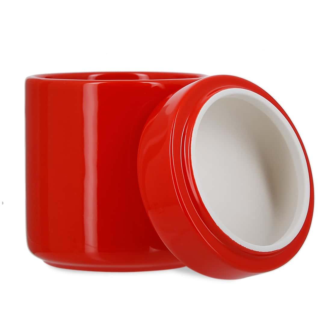 Photo #1 de Pot à tabac et Porte Pipe Céramique Rouge