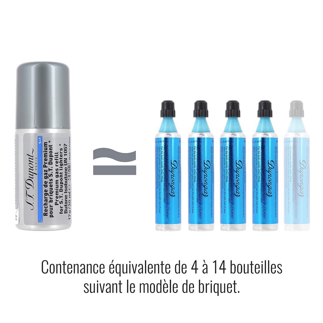 Photo #1 de Recharge gaz bleue premium S.T. Dupont 434 x2