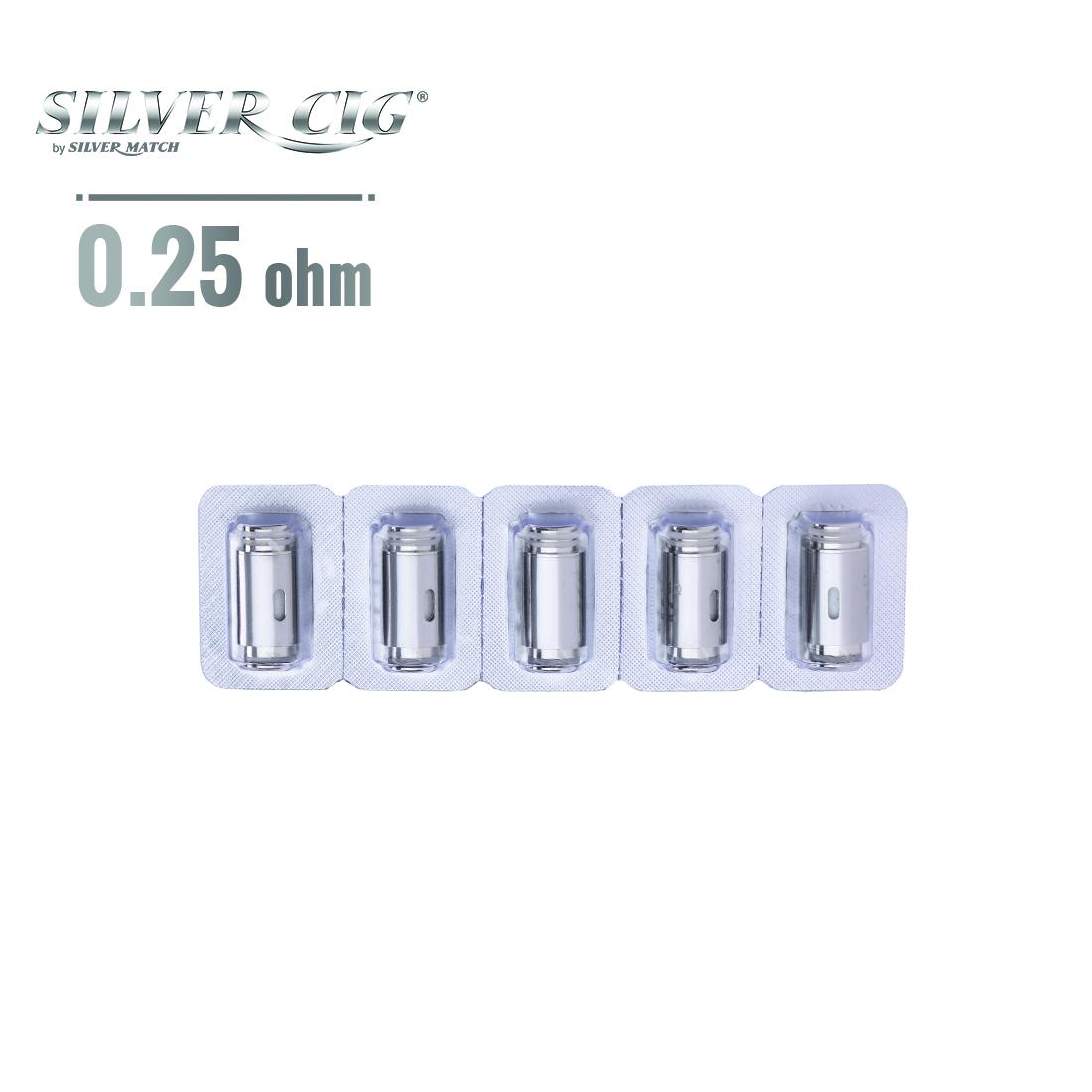 Photo #1 de Résistance SilverCig e-Bot 0.25 Ω pack de 5