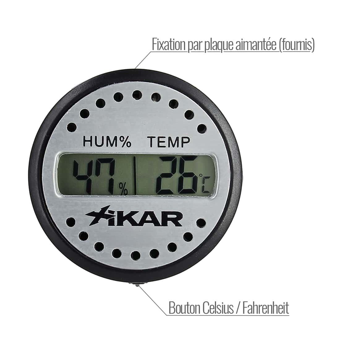 Photo #1 de Thermohygromètre Digital Xikar Rond