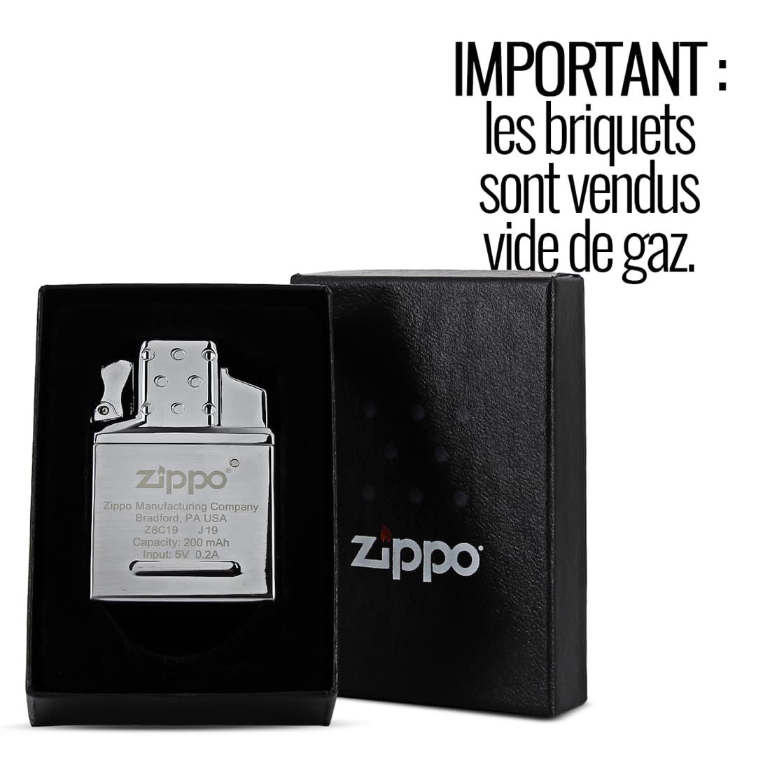 Photo #4 de Zippo Insert Simple Flamme Torche