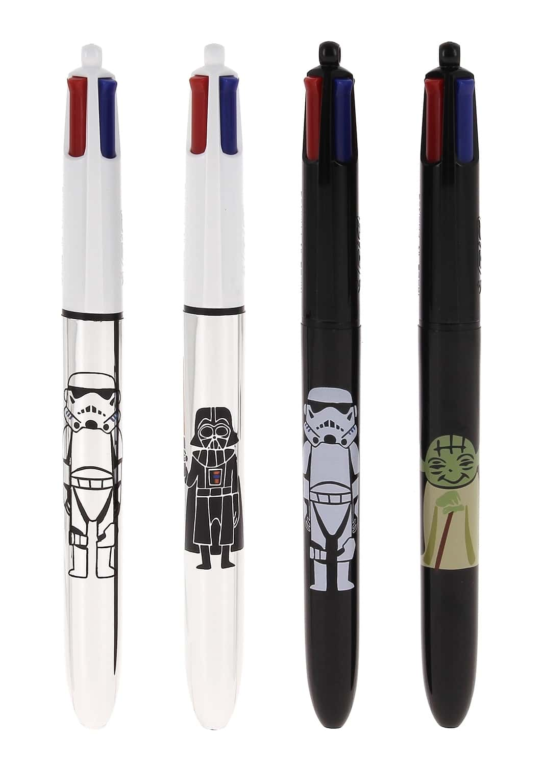 stylo 4 couleurs star wars bic