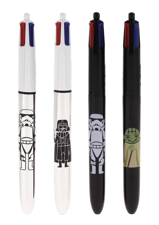 stylo 4 couleurs bic argent