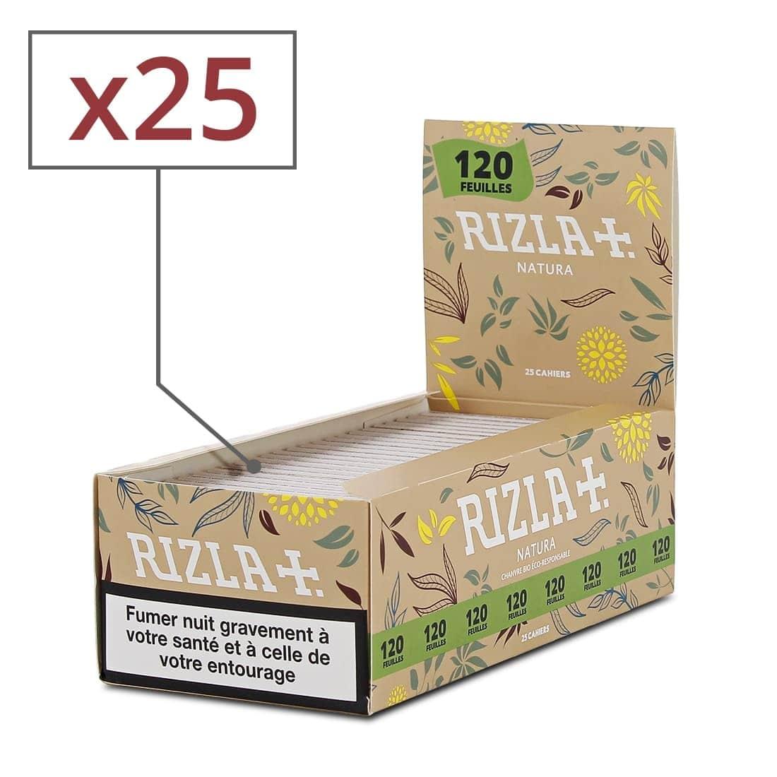 Rizla Slim Natura lot de 20 carnets de Feuille à rouler bio