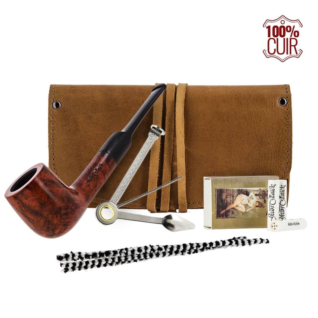 Pipe droite blague a tabac cuir et accessoires 79 00 for Artzain etchea la maison du berger