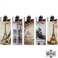 5 briquets Bic mini à pierre Retro Paris