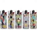 5 briquets Bic mini à pierre Color Street Art