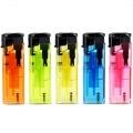 Briquet Electronique Torche Transparent x 5