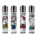Briquet Clipper Fun Unicorn x 4