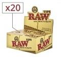 Filtre carton Raw pré-roulé x 20