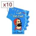 Papier à rouler Zig Zag bleu x10