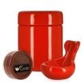 Pack Fumeur de Pipe Céramique Rouge