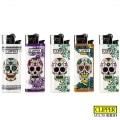 Briquet Clipper Brio Micro Mexican Skull x 5