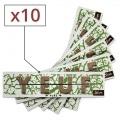 Papier à rouler Yeuf Slim Pure x 10