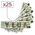 Papier à rouler Yeuf Slim Pure x 25
