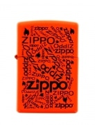 Zippo Logo Neon Orange Fluo