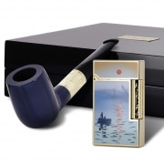 Coffret Collector S.T. Dupont Monet Bleu/Or