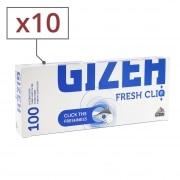 Boite de 100 tubes Gizeh Fresh CliQ x 10
