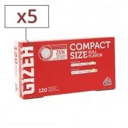 Boite de 120 tubes Gizeh Compact Size avec filtre x 5
