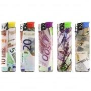 5 Briquets jetables Euros