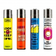Briquet Clipper Funny Quotes modèle 2 x 4