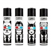 Briquet Clipper Animaux 3D x 4