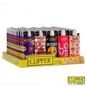 Briquet Clipper Brio Micro Emoji Love x 50
