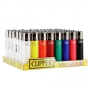 Briquet Clipper Couleurs Unies x 48