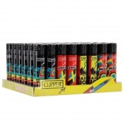 Briquet Clipper Jet Flamme Rasta x 48