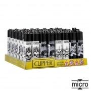 Briquet Clipper Micro Punky Skulls x 48