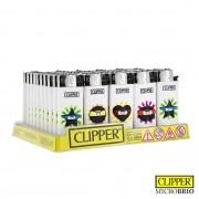 Briquet Clipper Brio Micro Emoji Ninja x 50