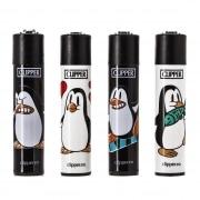 Briquet Clipper Pingouin x4