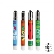 Briquet Clipper Micro Summer x 4