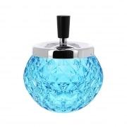 Cendrier extérieur verre bleu