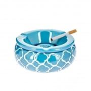 Cendrier Marocain Rond Bleu Ciel