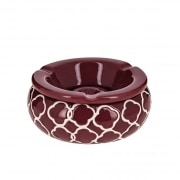 Cendrier Marocain Rond Rouge