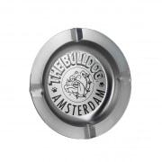 Cendrier The Bulldog Amsterdam métal gris