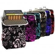 Etui paquet cigarette porte-monnaie fleurs